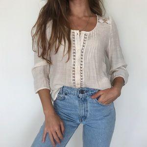 [Anthropologie] Mine button down boho blouse